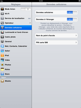 Apple iPad 2 - Internet - configuration manuelle - Étape 3