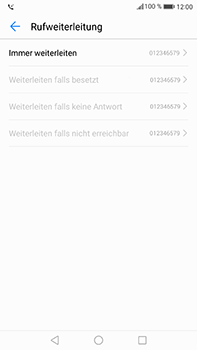 Huawei Mate 9 - Anrufe - Rufumleitungen setzen und löschen - Schritt 8