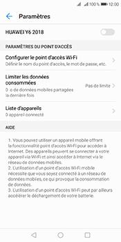 Huawei Y6 (2018) - Internet et connexion - Partager votre connexion en Wi-Fi - Étape 6