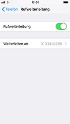 Apple iPhone SE - iOS 12 - Anrufe - Rufumleitungen setzen und löschen - Schritt 8