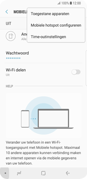Samsung Galaxy S9 (SM-G960F) - WiFi - Mobiele hotspot instellen - Stap 8