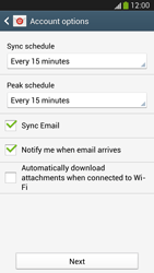 Samsung Galaxy S 4 LTE - E-mail - 032b. Email wizard - Yahoo - Step 7