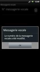 Sony Xperia Arc S - Messagerie vocale - Configuration manuelle - Étape 8