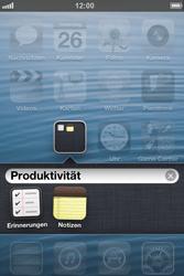 Apple iPhone 4S - Startanleitung - Personalisieren der Startseite - Schritt 5