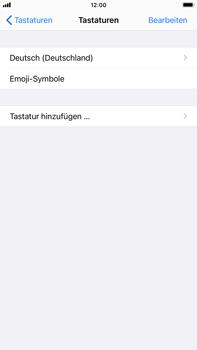 Apple iPhone 7 Plus - iOS 14 - Startanleitung - So fügen Sie eine Tastatursprache hinzu - Schritt 6