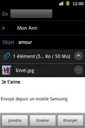 Samsung S6500D Galaxy Mini 2 - E-mail - envoyer un e-mail - Étape 12