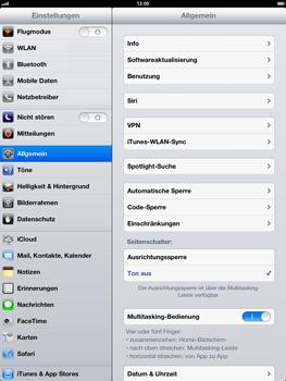 Apple iPad 4 - WLAN - Manuelle Konfiguration - 3 / 8