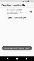 Sony Xperia XA2 - Sécuriser votre mobile - Personnaliser le code PIN de votre carte SIM - Étape 10