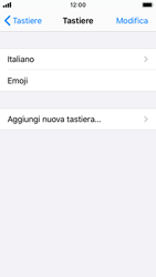 Apple iPhone SE - iOS 13 - Operazioni iniziali - Come aggiungere una lingua alla tastiera - Fase 6