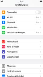 Apple iPhone 8 - iOS 14 - Startanleitung - So fügen Sie eine Tastatursprache hinzu - Schritt 3