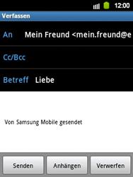 Samsung S5360 Galaxy Y - E-Mail - E-Mail versenden - Schritt 7