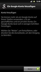 Sony Xperia S - Apps - Konto anlegen und einrichten - 5 / 21