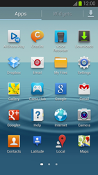 Samsung Galaxy S III - Getting started - Installing widgets and applications on your start screen - Step 4