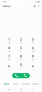 Samsung Galaxy A30 - voicemail - handmatig instellen - stap 5