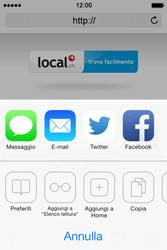 Apple iPhone 4S iOS 7 - Internet e roaming dati - uso di Internet - Fase 14