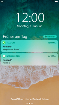Apple iPhone 8 Plus - iOS 11 - Sperrbildschirm und Benachrichtigungen - 9 / 10