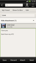 HTC S720e One X - Email - Sending an email message - Step 14