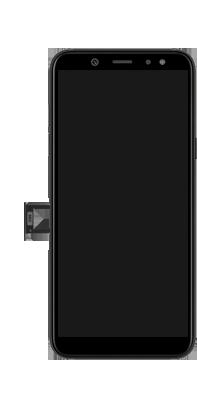 Samsung Galaxy A6 - Toestel - simkaart plaatsen - Stap 3
