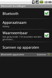 Samsung I7500 Galaxy - Bluetooth - koppelen met ander apparaat - Stap 8