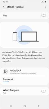 Samsung Galaxy A70 - WiFi - So aktivieren Sie einen WLAN-Hotspot - Schritt 7