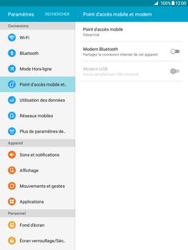 Samsung Galaxy Tab A - Internet et connexion - Utiliser le mode modem par USB - Étape 4