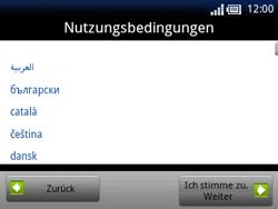 Sony Ericsson Xperia X10 Mini Pro - Apps - Konto anlegen und einrichten - 13 / 19