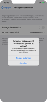 Apple iPhone 11 - Internet et connexion - Utiliser le mode modem par USB - Étape 5