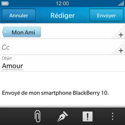 BlackBerry Q10 - E-mails - Envoyer un e-mail - Étape 10