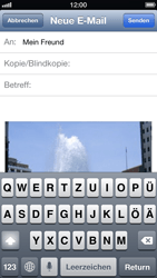 Apple iPhone 5 - E-Mail - E-Mail versenden - 0 / 0