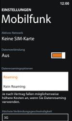 Nokia Lumia 800 / Lumia 900 - Internet und Datenroaming - Deaktivieren von Datenroaming - Schritt 6