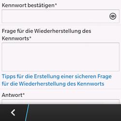 BlackBerry Q10 - Apps - Einrichten des App Stores - Schritt 12
