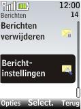 Nokia 2720 fold - SMS - Handmatig instellen - Stap 4