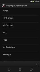 Sony C6603 Xperia Z - MMS - handmatig instellen - Stap 12