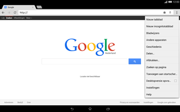 Sony Xperia Tablet Z2 4G (SGP521) - Internet - Hoe te internetten - Stap 15