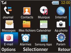 Samsung S3570 Chat 357 - E-mail - envoyer un e-mail - Étape 2