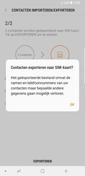 Samsung Galaxy S8+ - Android Oreo (SM-G955F) - Contacten en data - Contacten kopiëren van toestel naar SIM - Stap 13