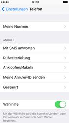 Apple iPhone 5 mit iOS 9 - Anrufe - Rufumleitungen setzen und löschen - Schritt 4