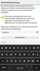 BlackBerry Leap - Fehlerbehebung - Handy zurücksetzen - 2 / 2