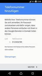 Sony Xperia XZ - Android Nougat - Apps - Konto anlegen und einrichten - Schritt 17