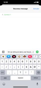 Apple iPhone 11 - Contact, Appels, SMS/MMS - Envoyer un SMS - Étape 10