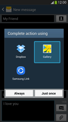 Samsung I9505 Galaxy S IV LTE - MMS - Sending pictures - Step 15