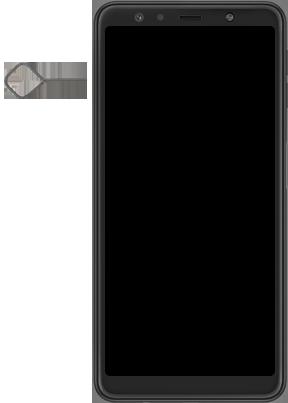 Samsung galaxy-a7-dual-sim-sm-a750fn-android-pie - Instellingen aanpassen - SIM-Kaart plaatsen - Stap 2