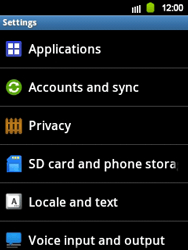 Samsung Galaxy Y - Mobile phone - Resetting to factory settings - Step 4
