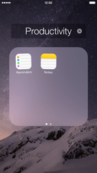 Apple iPhone 6 iOS 8 - Getting started - Personalising your Start screen - Step 5