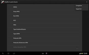 Sony Xperia Tablet Z LTE - Internet et roaming de données - Configuration manuelle - Étape 16