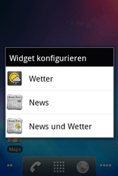Alcatel OT-983 - Startanleitung - Installieren von Widgets und Apps auf der Startseite - Schritt 5