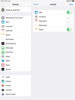 Apple iPad Mini 3 - iOS 12 - E-mail - Manual configuration (outlook) - Step 9