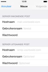 Apple iPhone 4 S iOS 7 - E-mail - Handmatig instellen - Stap 12