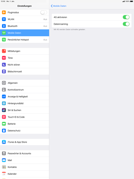 Apple iPad Pro 12.9 inch - iOS 12 - Ausland - Im Ausland surfen – Datenroaming - Schritt 8