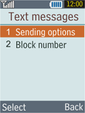 Samsung B2100 Xplorer - SMS - Manual configuration - Step 6
